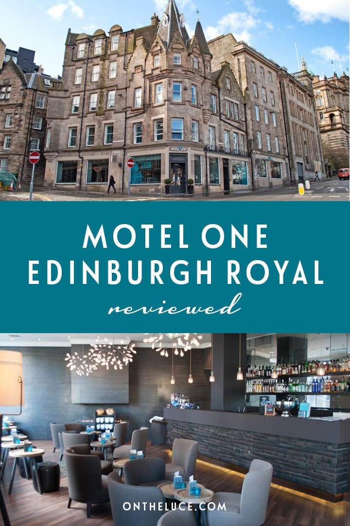 A budget hotel stay in Edinburgh with central location, smart design and a great communal lounge and bar at the Motel One Edinburgh Royal near Waverley station #Edinburgh #hotel