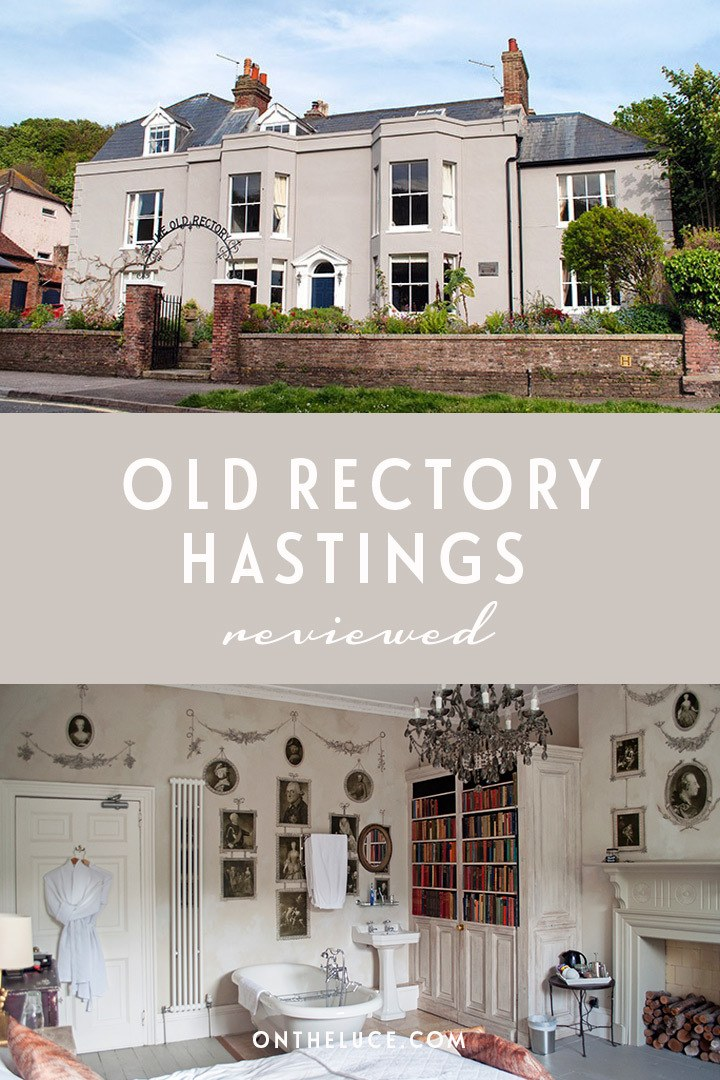 The traditional seaside B&B accommodation gets a boutique luxury makeover at the Old Rectory in Hastings, East Sussex, England – with elegant decor, attentive service and great breakfasts. #Hastings #EastSussex