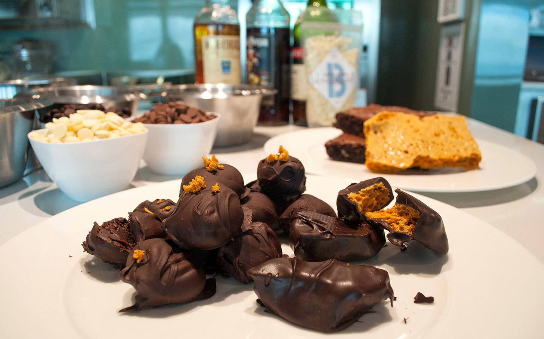 Chocolate making on board P&O Britannia cruise ship
