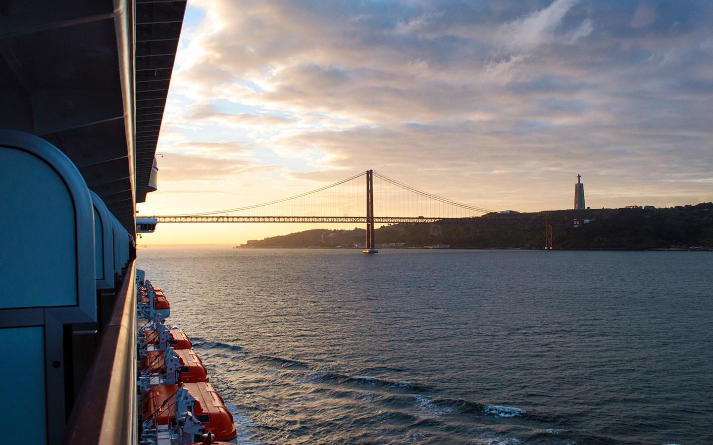 Sunrise in Lisbon froma P&O Canary Islands cruise