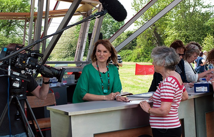 Fiona Bruce at the Antiques Roadshow