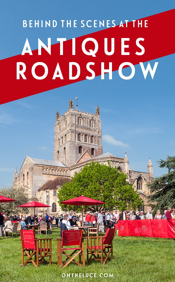 A very British day out at the filing of the Antiques Roadshow BBC TV show at Tewkesbury Abbey in Gloucestershire – what goes on behind the scenes and will we end up rich? #TV #AntiquesRoadshow #Tewkesbury