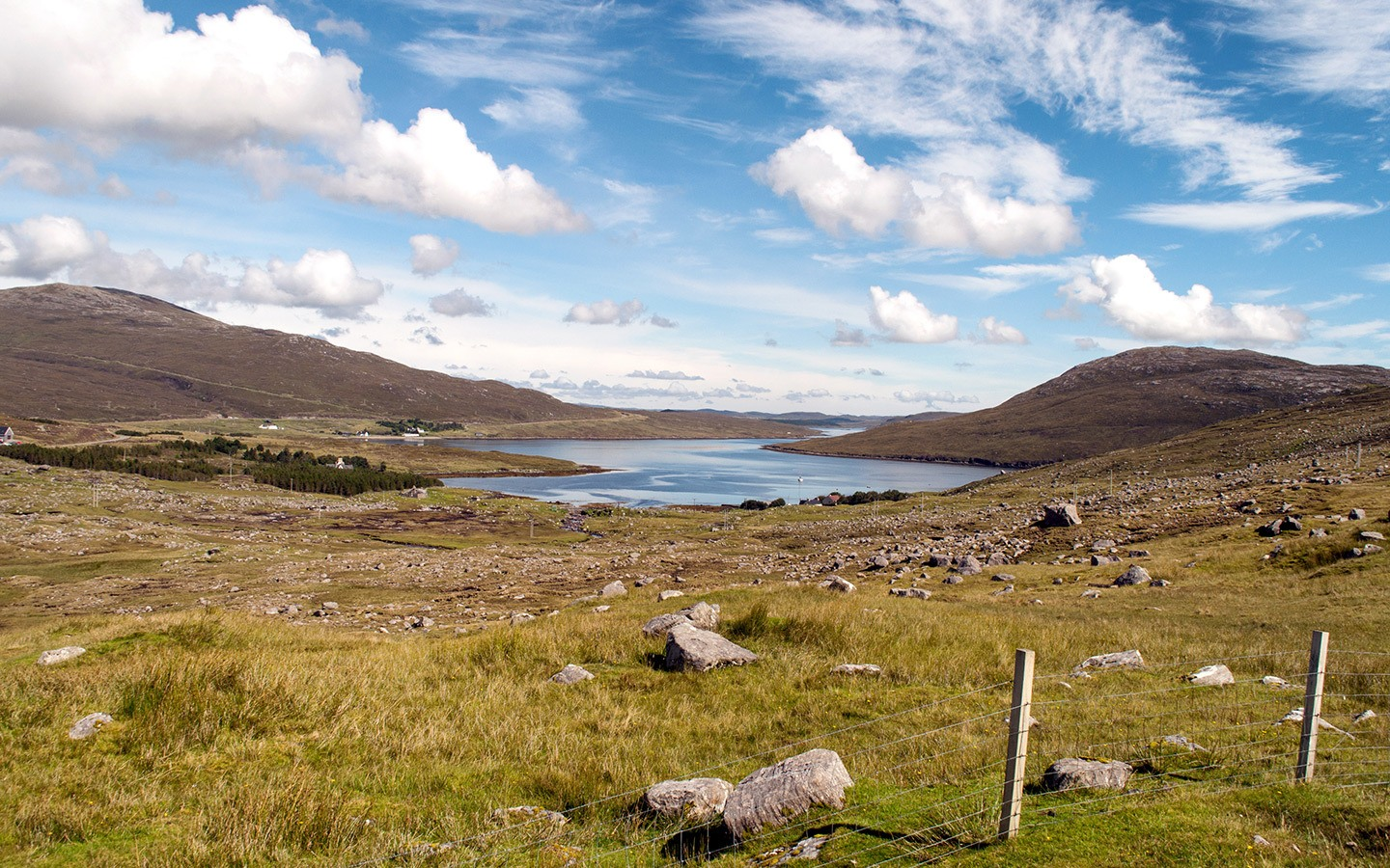 Landscapes in the Isle of Lewis and Harris, Scotland