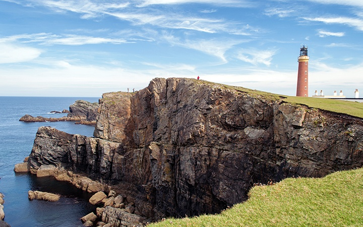 On the edge of the world at the Butt of Lewis