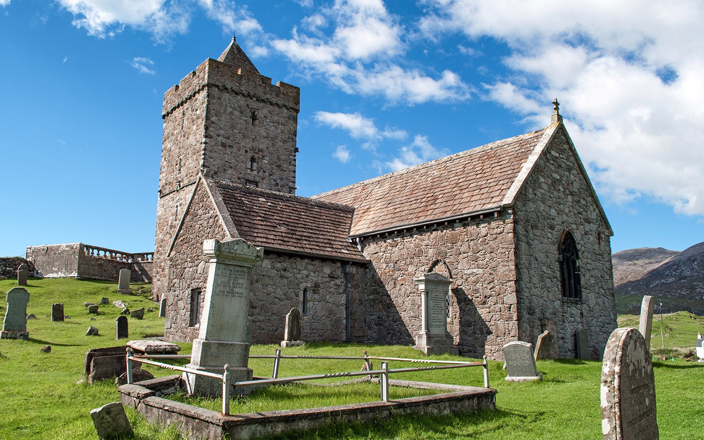 St Clements Church on the Isle of Harris, Scotland