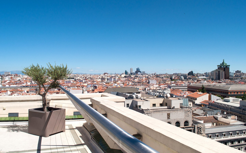 Madrid city view from the Circulo de Bellas Artes