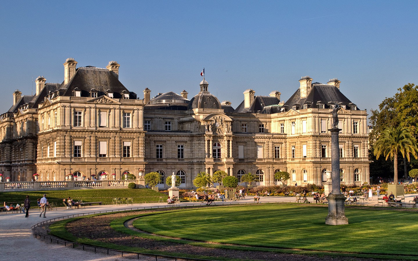 The Luxembourg Palace and gardens, Paris