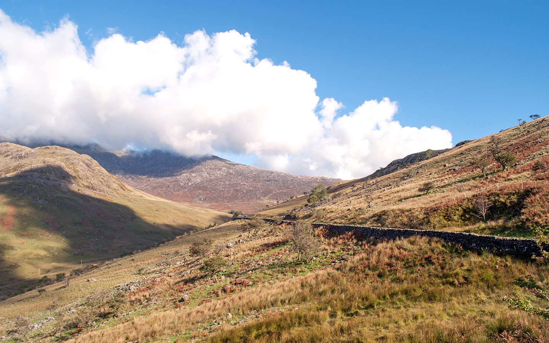The road through Nant Gwynant in Snowdonia