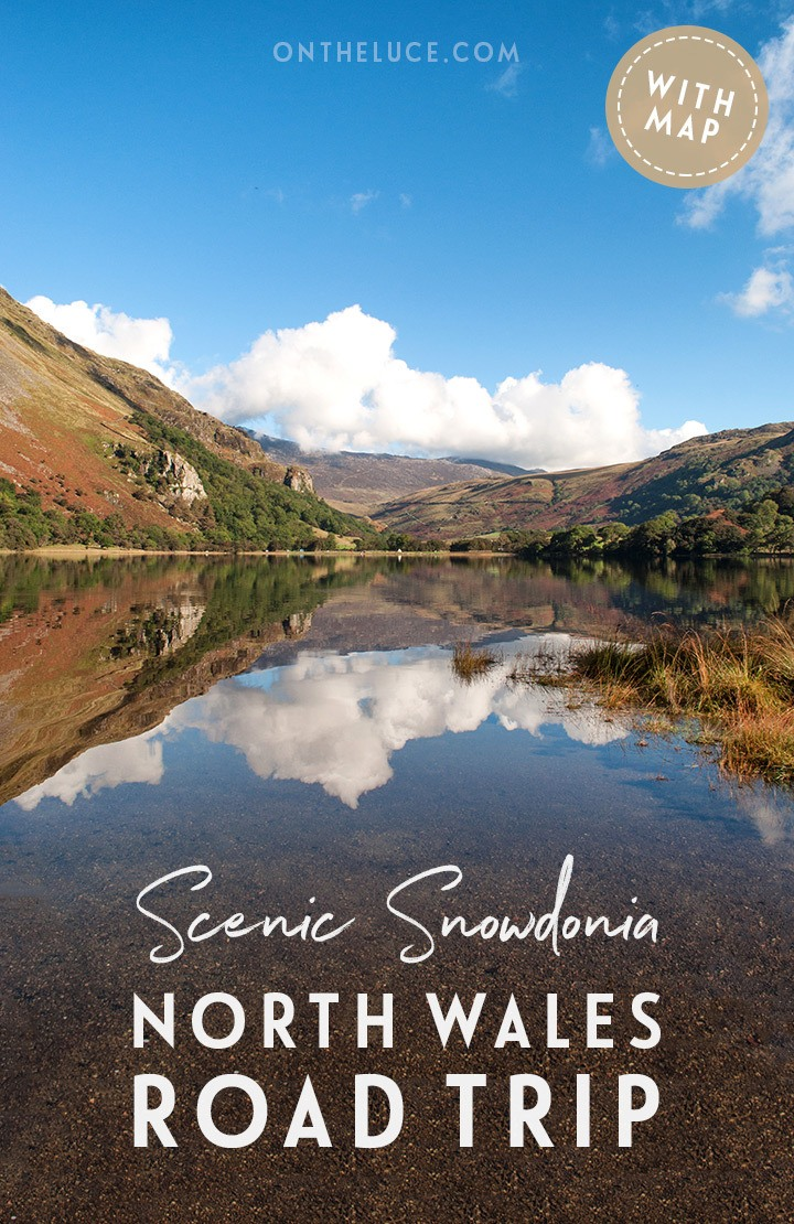 On the road in North Wales on a scenic road trip through lakes, mountains and picturesque villages in Snowdonia National Park – with driving route directions and map included | Snowdonia road trip | North Wales road trip | Snowdonia National Park | Snowdonia scenic drive