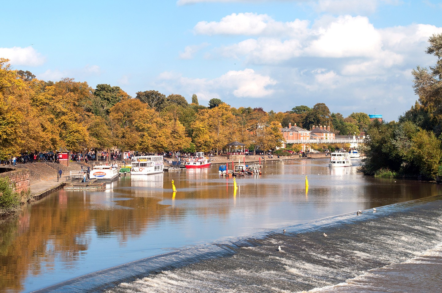 Boats along the River Dee