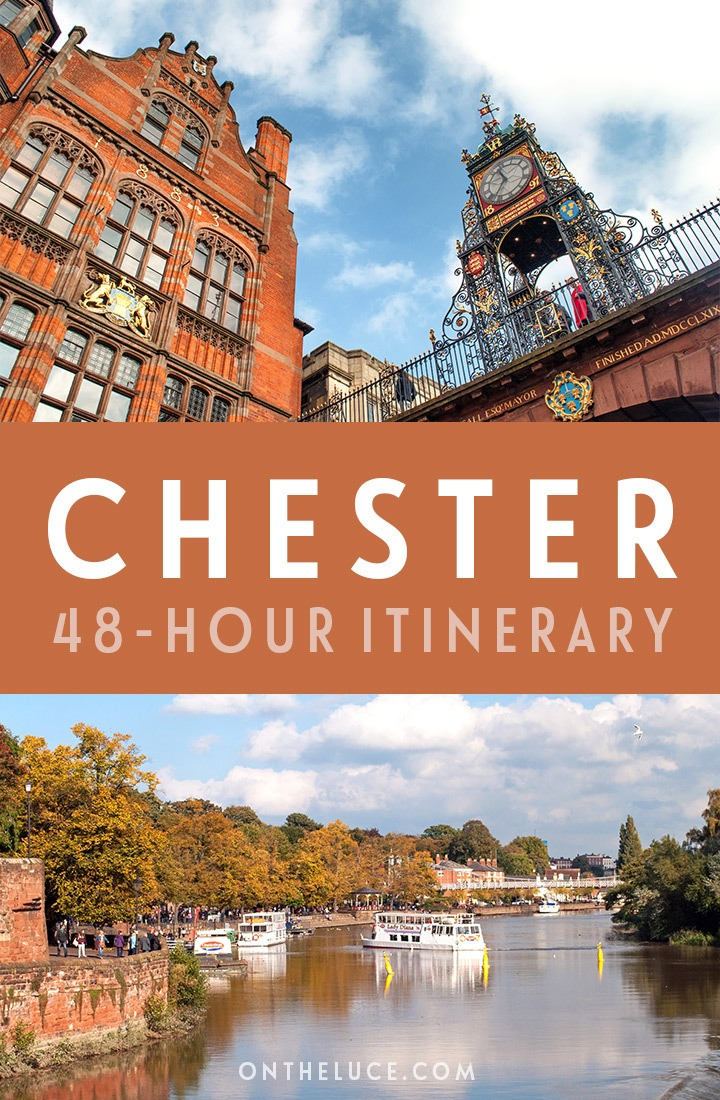 A guide to spending a weekend in Chester, Cheshire, with tips on what to see, do, eat and drink in this a 48-hour itinerary, including city walls, boat trips, historic streets and more. #Chester #Cheshire #England #weekend