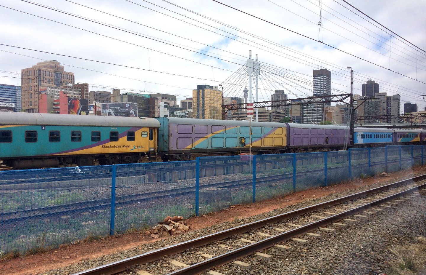 Johannesburg on the Premier Classe train