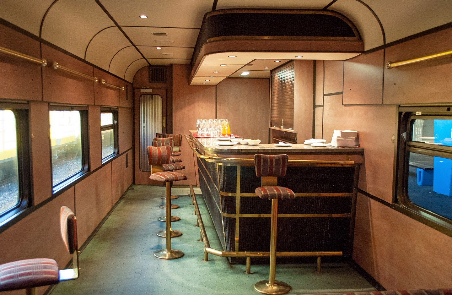 Premier Classe train lounge bar South Africa