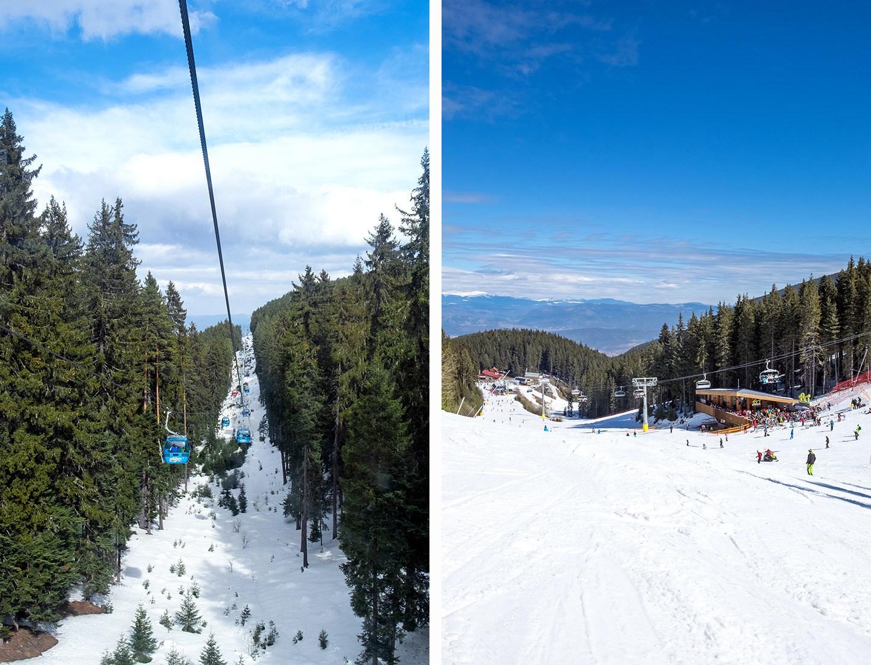 Lifts and pistes in Bansko ski resort, Bulgaria
