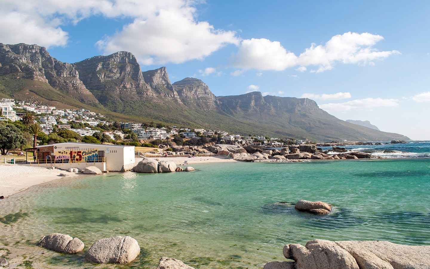 Camps Bay beach in South Africa