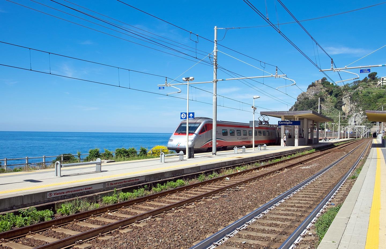 The Cinque Terre's coastal train line