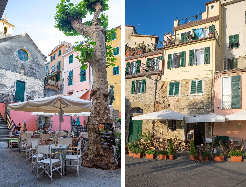 Quiet backstreets in the Cinque Terre