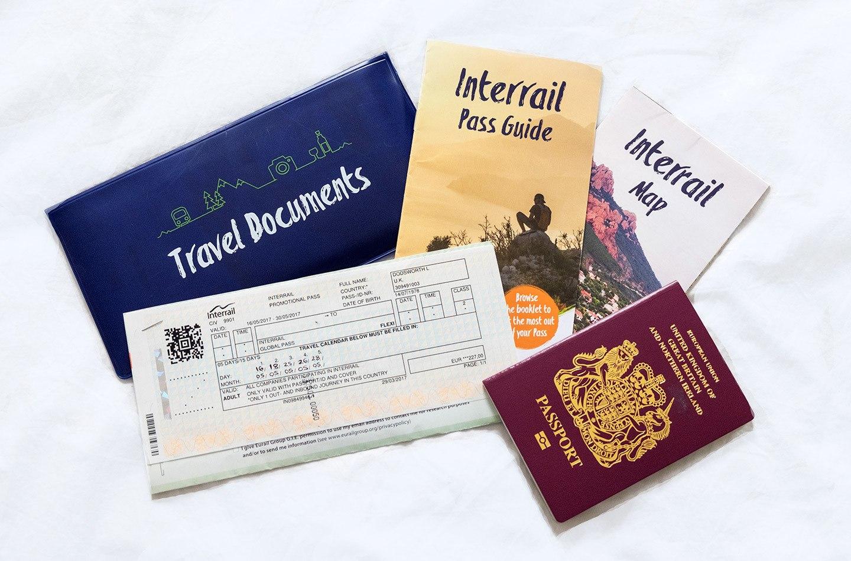 InterRail European rail pass tickets