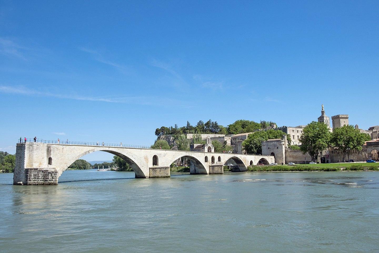 The Pont d'Avignon bridge, South of France