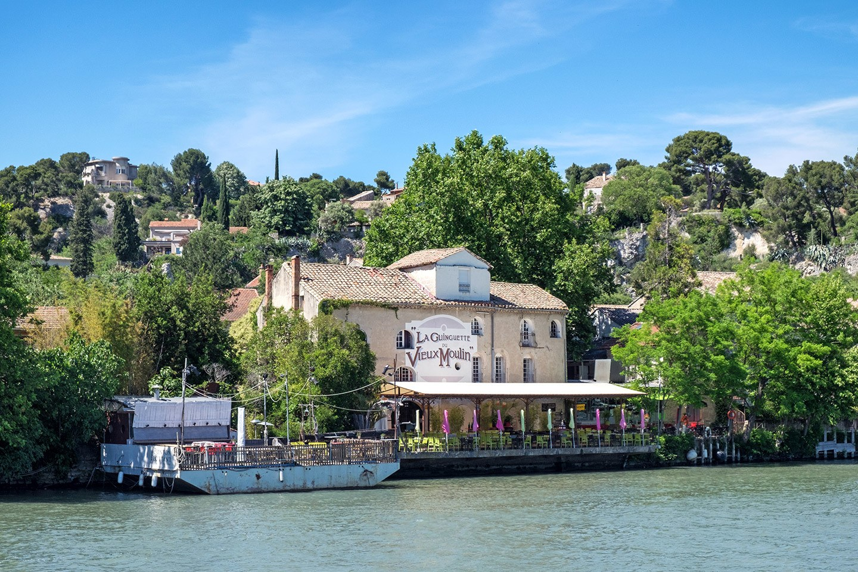 The waterside village of Villeneuve-lès-Avignon in France
