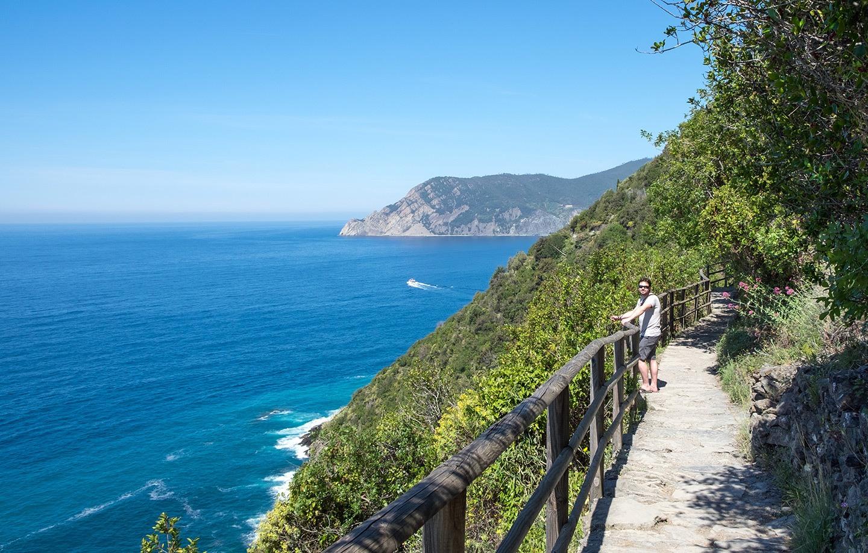 On the coast path through the Cinque Terre