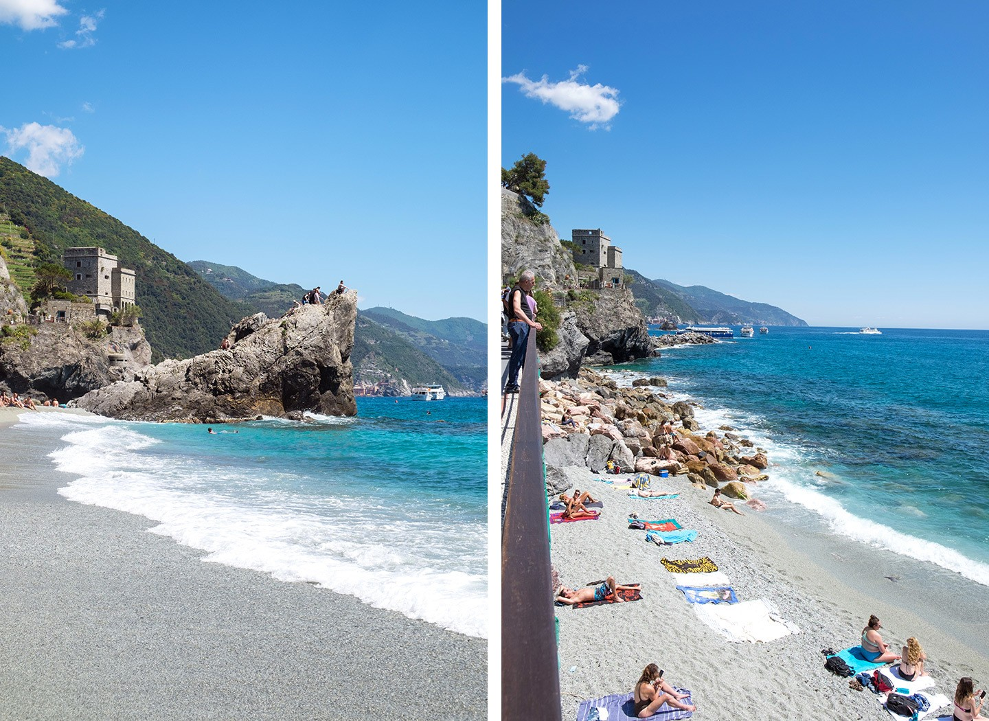On the beach in Monterosso