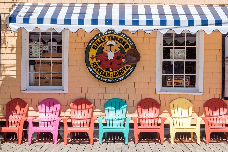 Ice cream shop in Charlottetown, Prince Edward Island, Canada