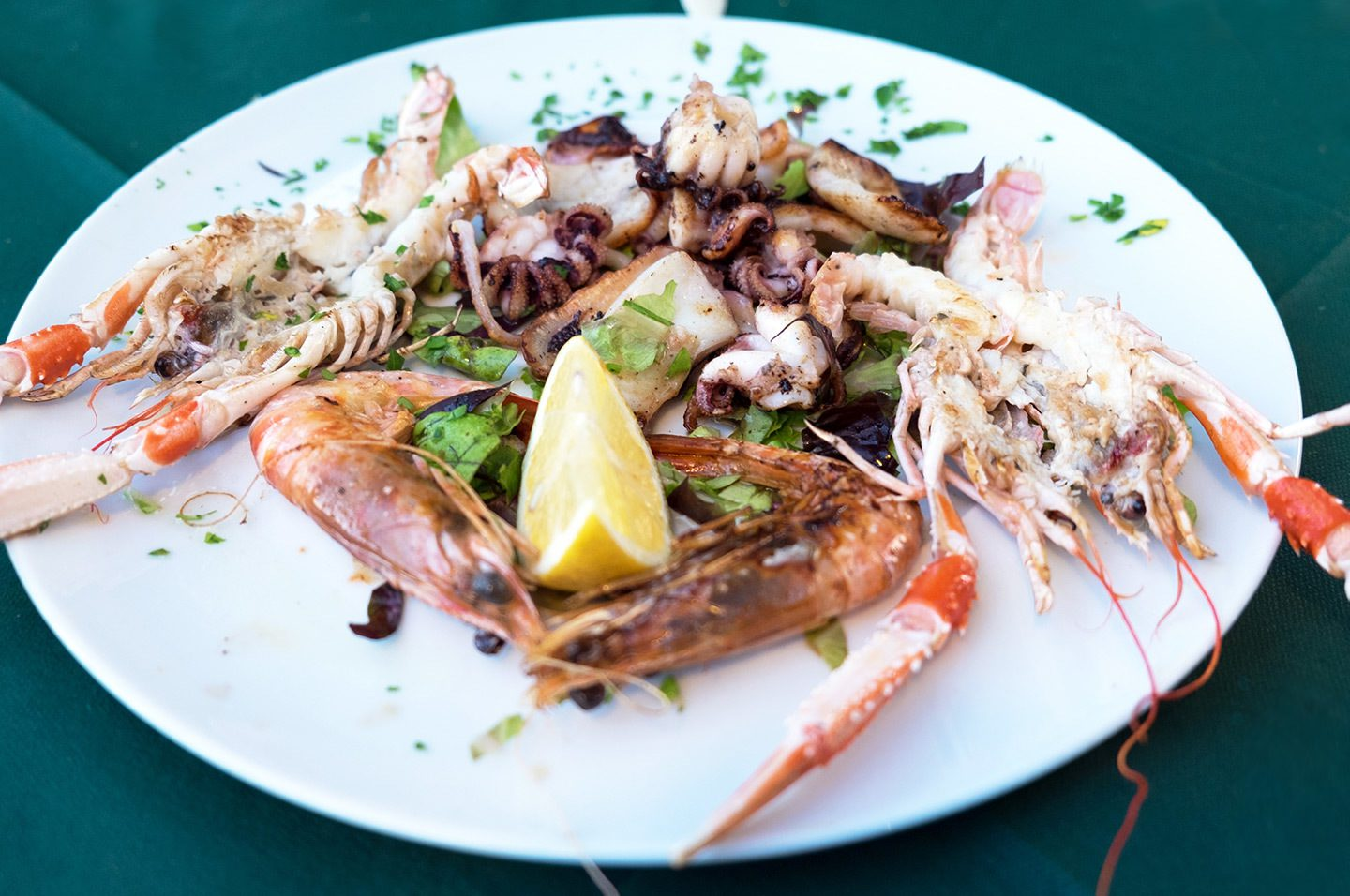 Seafood in the Cinque Terre, Italy