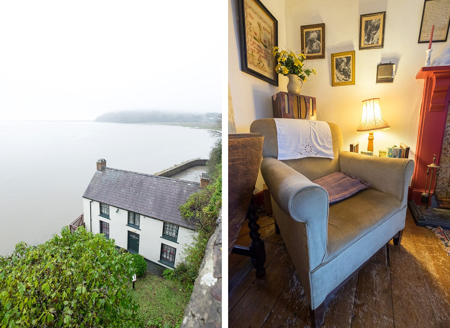 Dylan Thomas' Boathouse in Laugharne, South Wales