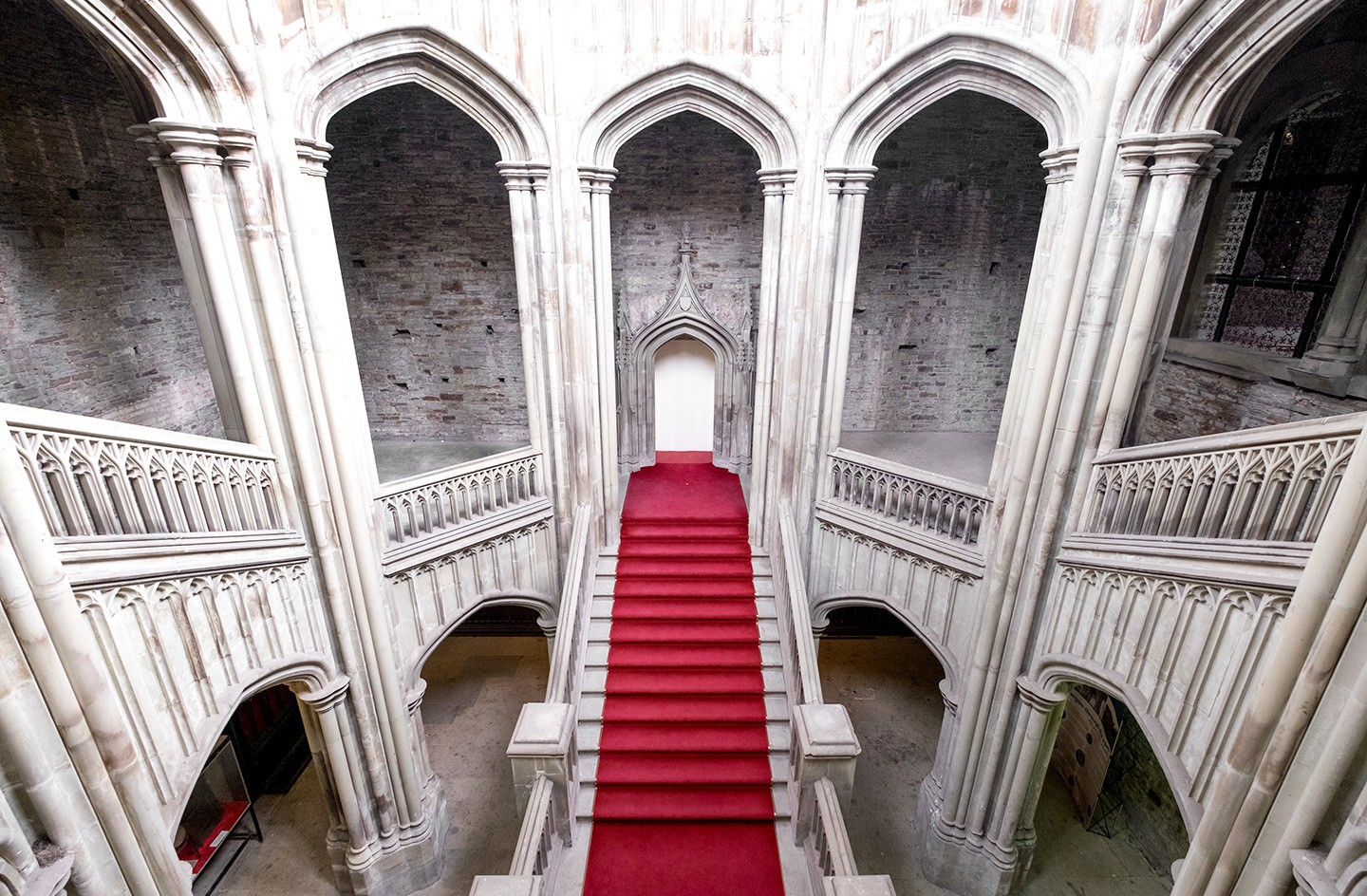 Margam Castle staircase, South Wales filming location for Doctor Who