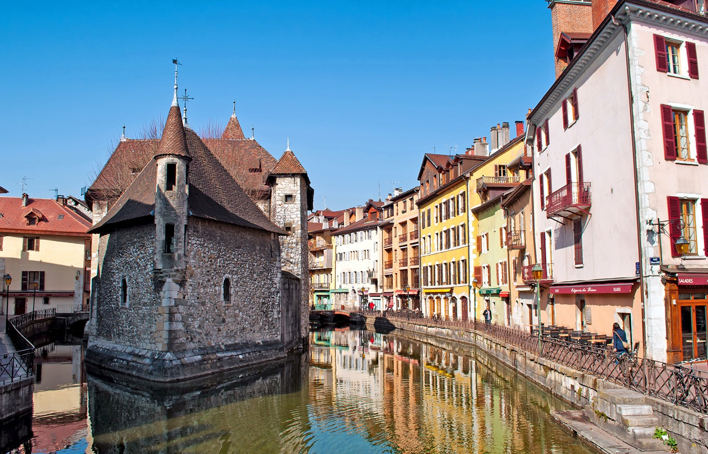 Annecy's canals and old prison