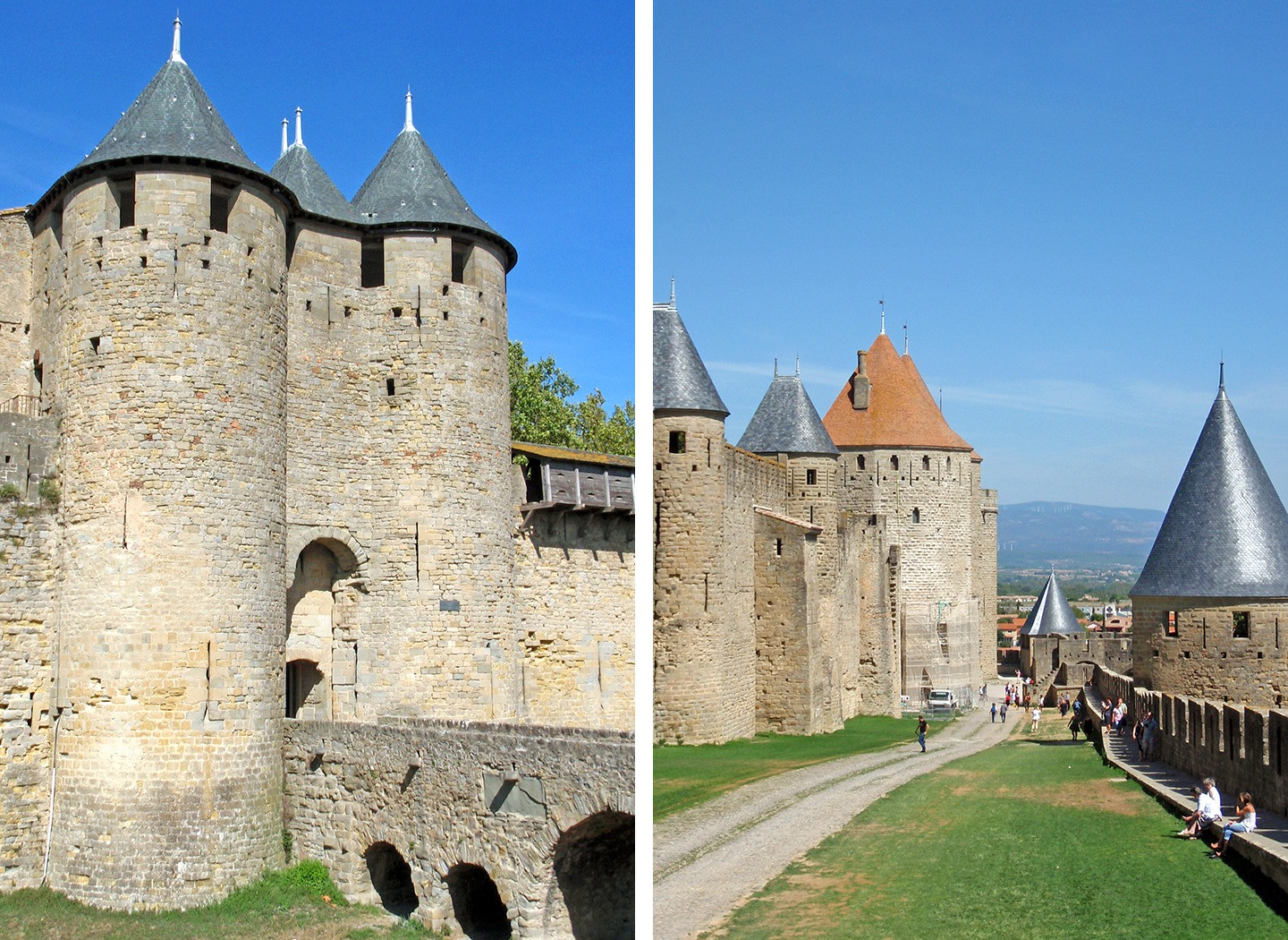 Carcassonne's medieval walled city