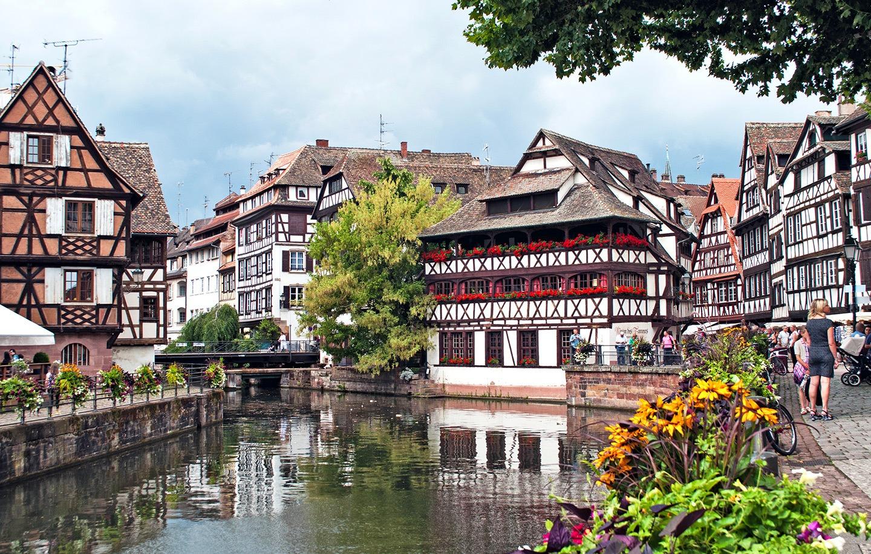 Strasbourg's canals, France