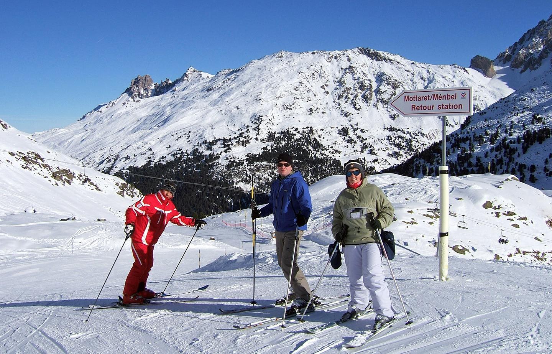 ESF ski class in Meribel-Mottaret, French Alps