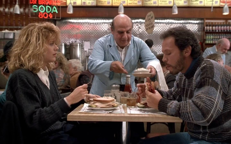 Scene from Where Harry Met Sally at Katz's Deli, New York
