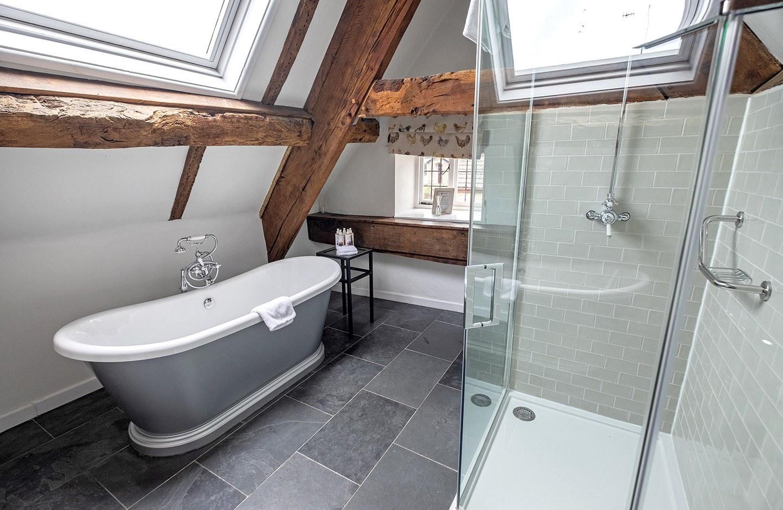 Bathroom at the Tudor Farmhouse hotel