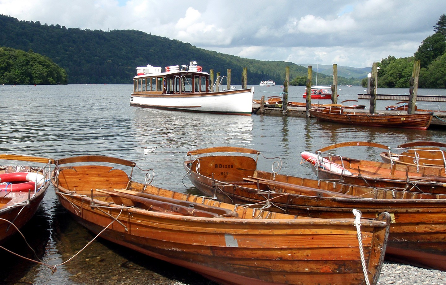 Boats on Lake Windermere in the Lake District