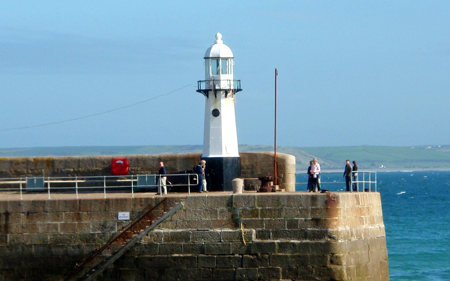 Lighthouse in the harbour at St Ives, Cornwall