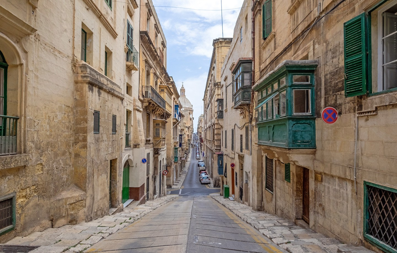 Streets in Valletta, Malta