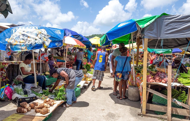 Castries market in Saint Lucia