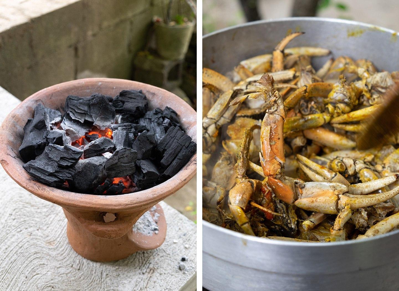 Coal pot cookery in Saint Lucia