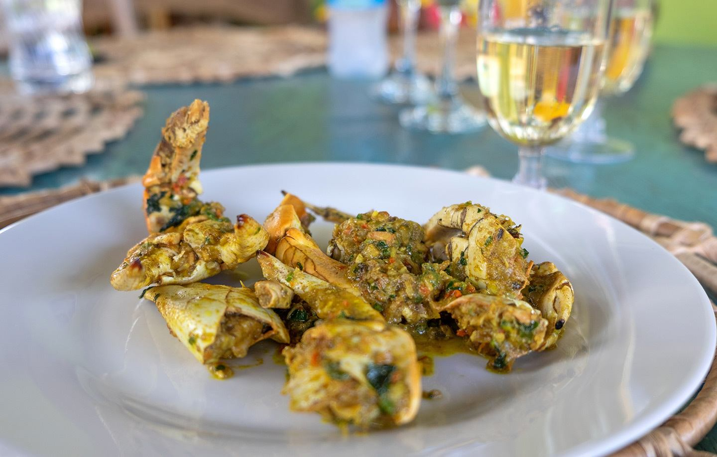 Crab claws, Creole cookery in Saint Lucia