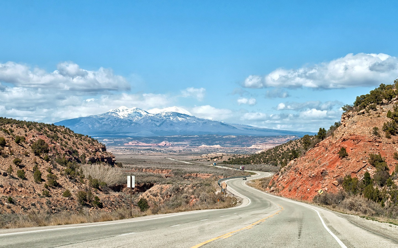 The road to Moab, Utah