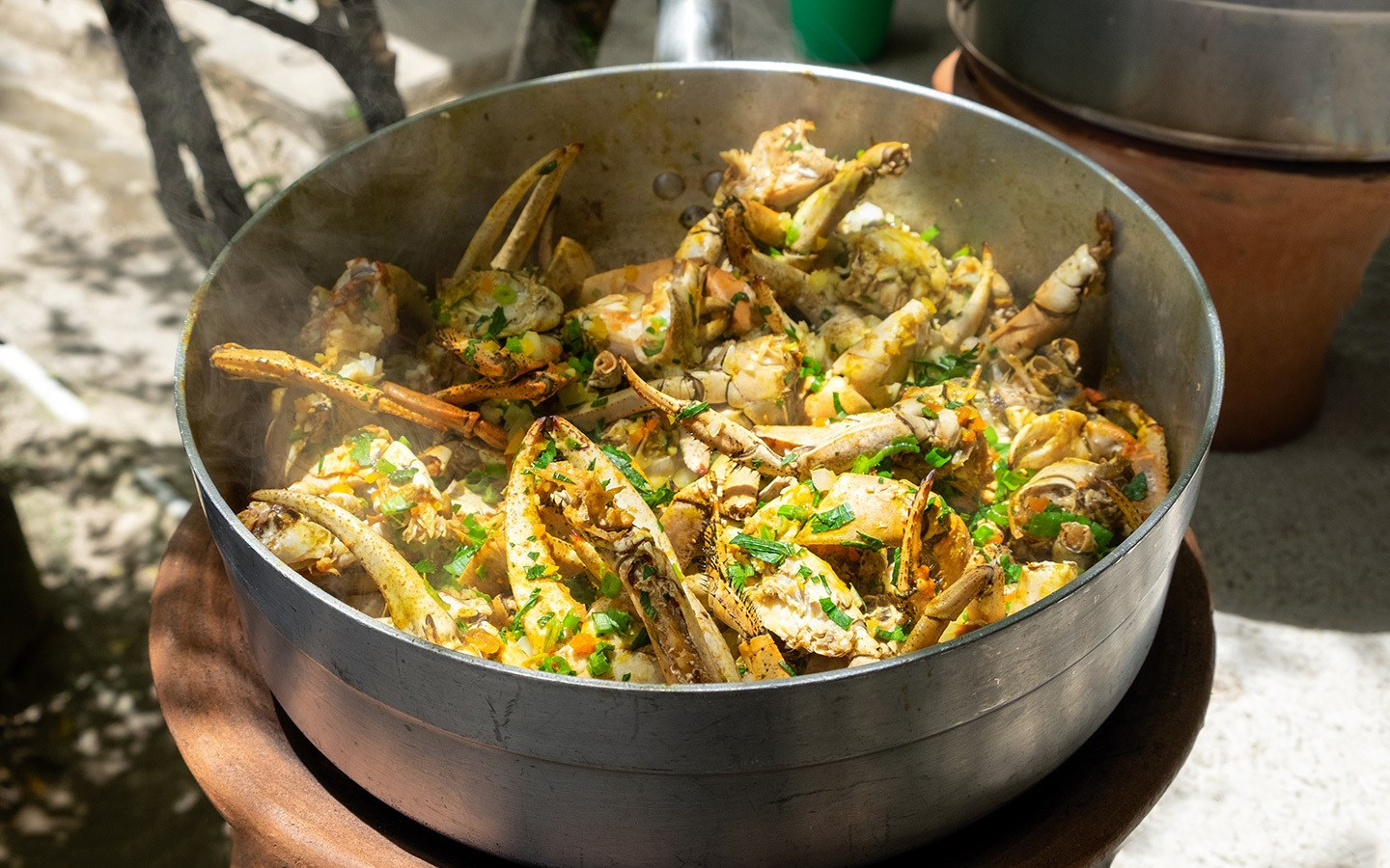 Exploring the food in Saint Lucia with three culinary experiences – a Castries market tour, Creole cookery class and high-end cuisine with a local chef.