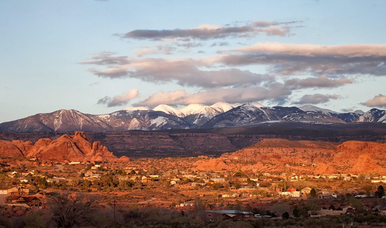 Sunset views from Moab, Utah