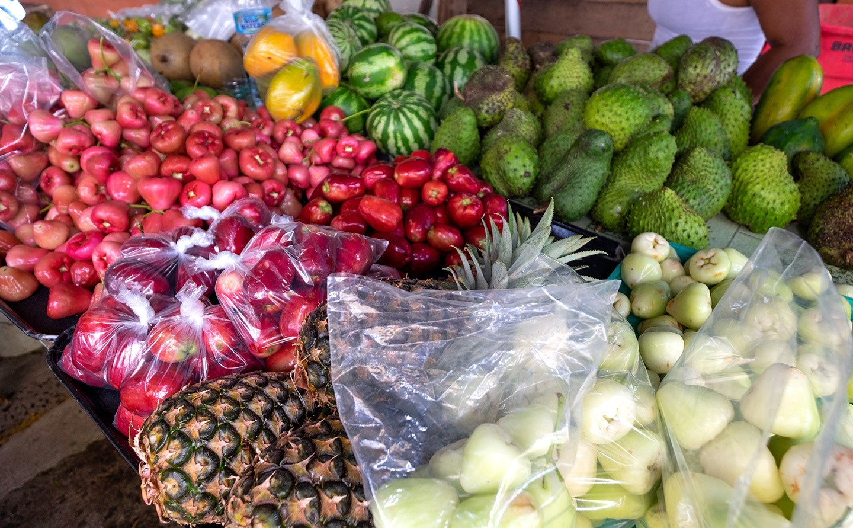 Tropical fruit in Saint Lucia, Caribbean