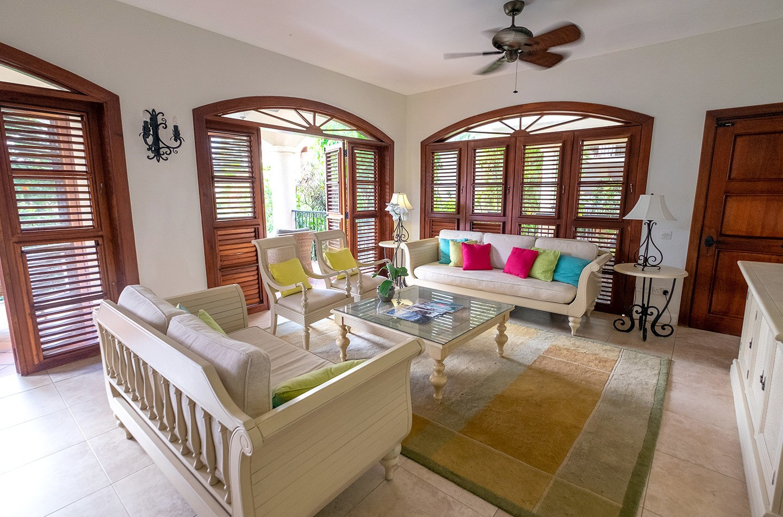 Lounge in villa at Cap Maison, Saint Lucia