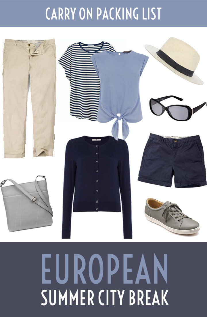 The ultimate carry on packing list for a summer city break in Europe – what you need to pack for a long weekend break – including a PDF packing list to download #packinglist #citybreak #summer