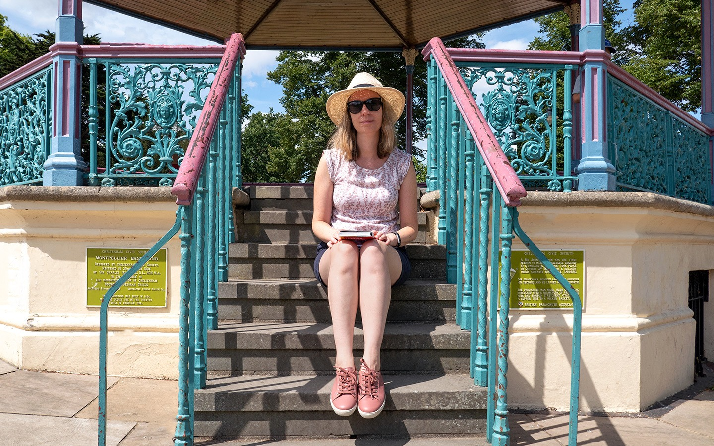 On the bandstand in Cheltenham