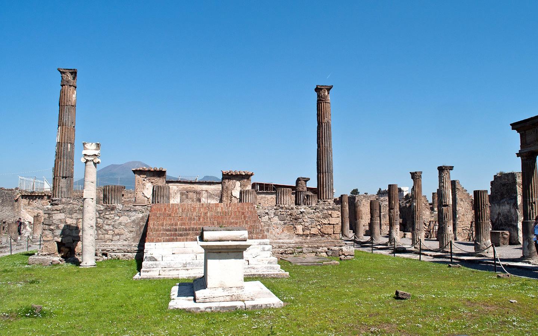 The buried Roman city of Pompeii, Italy